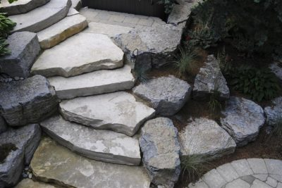 stone steps in the garden